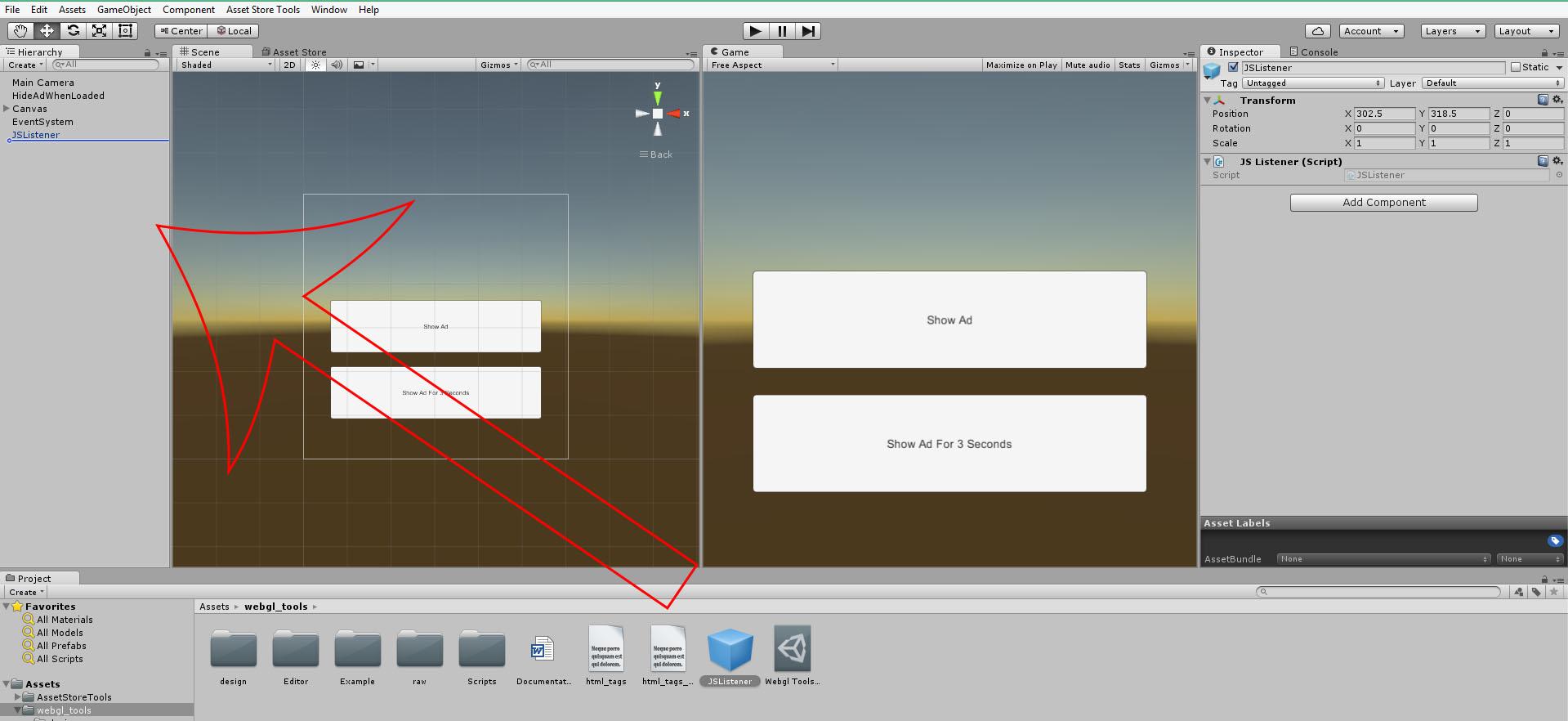 Unity Webgl Tools - Ads Solution - Deep Linking - Stranger Games