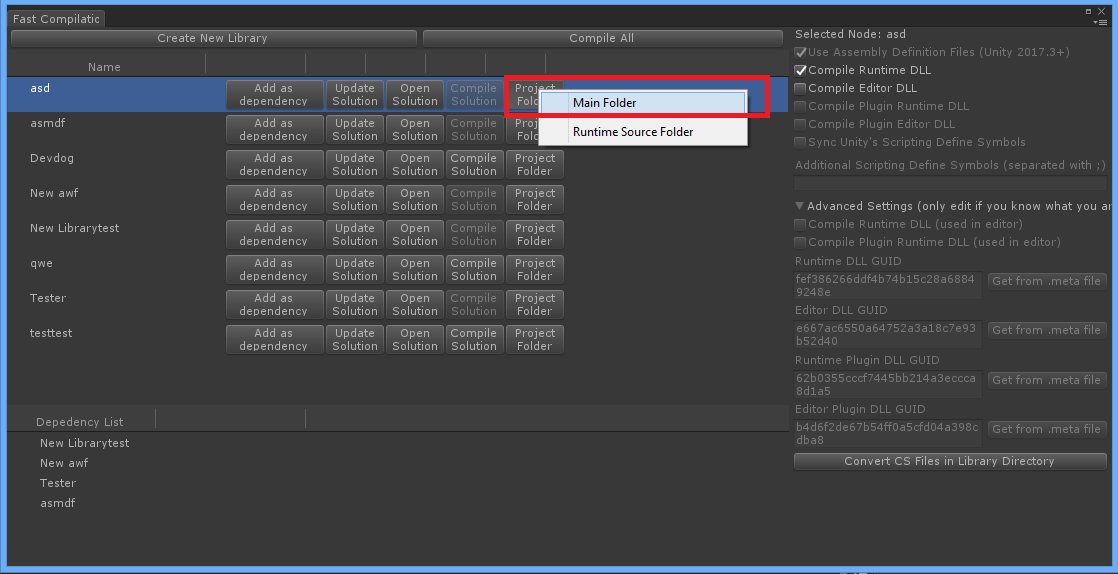 Lightning Fast Compilation and Module Management for Unity