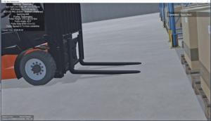 forklift truck simulation
